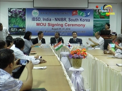India and South Korea today signed a memorandum of understanding