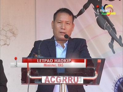 Youth Affairs & sports Minister, Letpao Haokip assures to increase sports budget to avail better incentives to sports persons