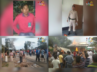 CONSTABLE SHOOTS A MAN, MOB BURNS DOWN HIS HOUSE