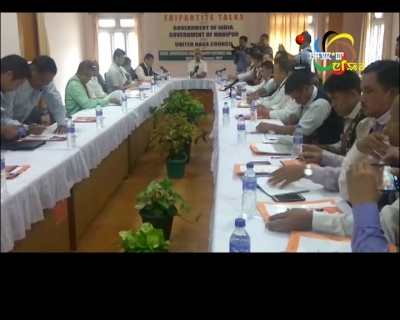 Tripartite talks between Centre, govt of Manipur and UNC in progress in Senapati district headquarters