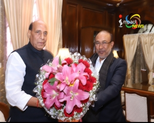 CM Biren calls on Union Home Minister Rajnath; discussed about various issues and developmental works in the State