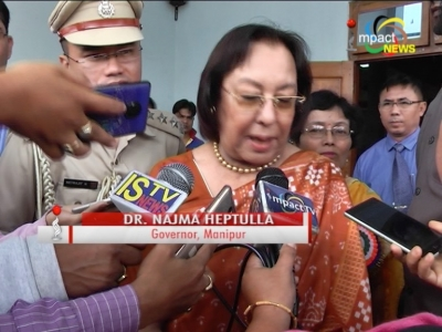 Governor Dr. Najma Heptulla condemns yesterday's attack on Chief Minister Ibobi's entourage in Ukhrul