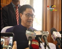 Union Minister of State for Home Affairs, Kiren Rijiju meets Chief Minister, Okram Ibobi; demands the state Govt to end the economic blockade