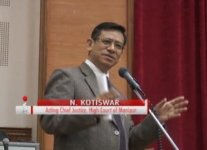 Acting CJ of High Court of Manipur Kotiswar has urged the people to try to resolve their issues before coming to the court