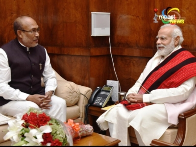 N.Biren meets PM Modi for the first time after becoming the chief minister of Manipur