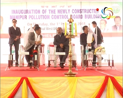CM Biren inaugurates the new building of Manipur Pollution Control Board at Imphal West DC Complex, Lamphelpat today