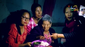 Mathiurongliu Gangmei from Makhuam-3 village celebrated her 115th birthday today making her the oldest living person in the world
