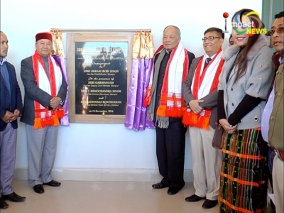 Chief minister Okram Ibobi inaugurates SDO/BDO Khoupum complex in Longmai district