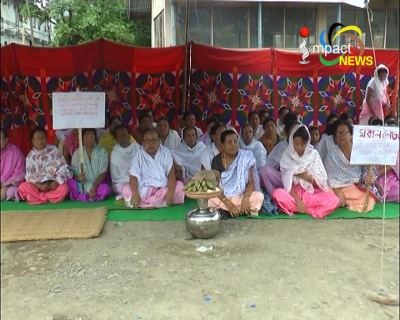 Sit-in protest against the arrest of Aribam Rikesh