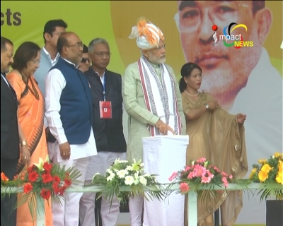 Prime Minister Narendra Modi inaugurates 4 projects and lays foundation stones of 7 projects including National Sports University
