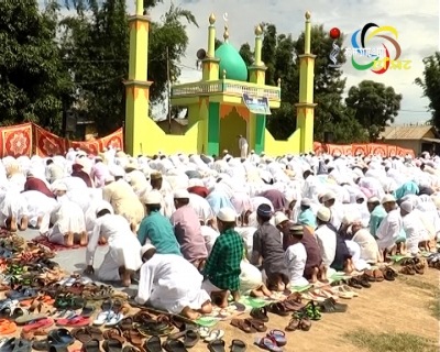 Eid-ul-Fitr, which marks the culmination of the month-long fasting, celebrated by the Muslims across Manipur