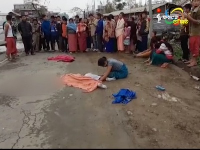 Two minor sisters die in road accident in Oinam bazar