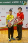 Meiraba Luwang settles for silver in OUE Singapore Youth Badminton International 2014
