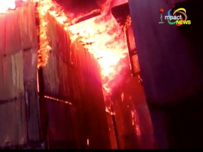 Property worth about 10 lakh rupees were destroyed in a fire