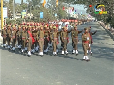 State Capital hold full dress rehearsal of the 68th Republic Day parade under tight security