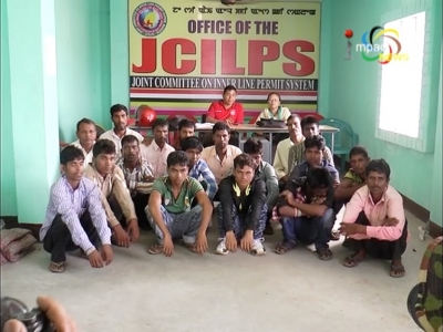 JCILPS catches 18 non local workers, warns to impose ban on passenger bus services if they bring in non-locals in Manipur