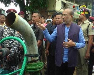 Chief Minister Biren reiterates that govt will build houses for flood victims during his visit to flood hit areas in Khurai