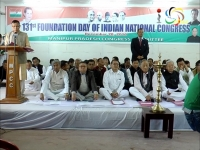Manipur Pradesh Congress Committee observes the 131st foundation day of Indian National Congress; Ibobi credits the congress for a changed Manipur.
