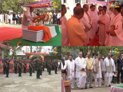 People of the State led by CM Biren pay homage to the mortal remains of Former CM RK Dorendrosana today