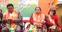 Manipur Trinamool Congress President Kim Gangte and two former Congress MLAs join BJP