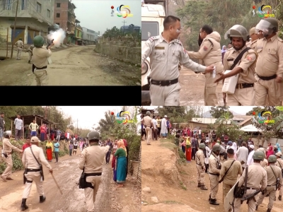 Supporters of 42 hour General strike called by Manipur Muslim Welfare Organisation clash with the Police