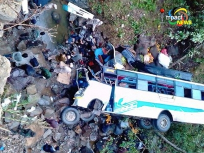 Atleast 10 killed in a Tourist Passenger bus accident at Maram; another accident claims 7 lives at Khongsang.