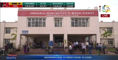 Staff of lone state run JNIMS hospital tenders mass resignation against non-implementation of 7th ROP