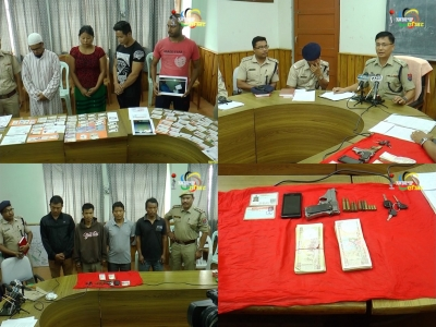 Police busts 2 gangs involved in fake kidnapping and making fake Bank Pass Book, AADHAAR cards; 8 persons including 2 NSCN-IM cadres held
