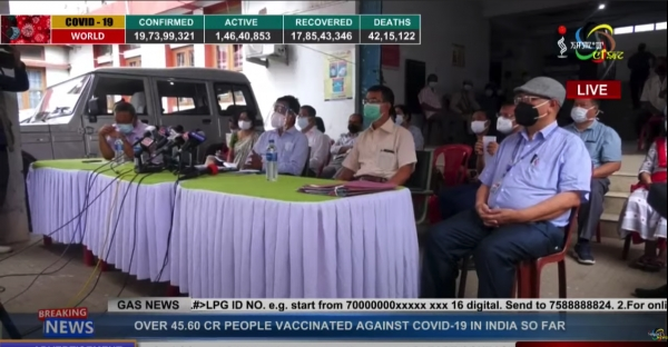 COVID-19 INFECTION RATE RISING IN RURAL AREAS OF MANIPUR: DR.K. RAJO