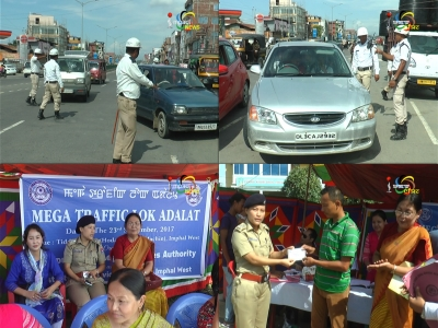 Traffic violators fined during Mega Traffic Lok Adalat, people asked to follow traffic rules to prevent accidents